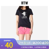 T-shirt White 010 gray 015 Navy 059 S/160 M/165 L/170 XL/17096A Summer 2016 Short sleeve Crew neck Self cultivation Regular routine street cotton 96% and above 25-29 years old originality Cartoon animation Marcuster MAWT62551 printing Cotton 100% Europe and America