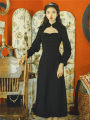Dress Autumn 2020 black S,M,L Mid length dress singleton  Long sleeves commute stand collar Solid color Retro