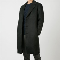 woolen coat black M (175-180) in stock Mageda Fashion City have more cash than can be accounted for Other leisure easy youth Lapel Single breasted Exquisite Korean style other other winter other other