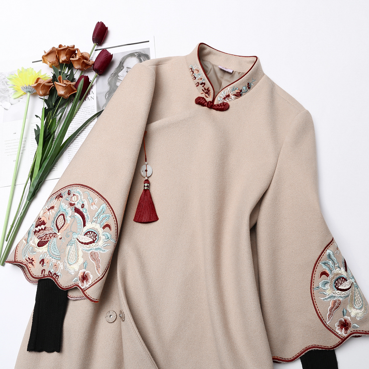 jacket Autumn of 2018 Qingyue improved cheongsam (pre sale) SMLXL 18007-2- Numen button Other 100% Exclusive to tmall (only sold in tmall)