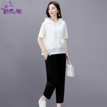 Fashion suit Summer 2021 M L XL XXL White green black 25-35 years old Hangyi Pavilion HYG2102132 Cotton 75.7% polyurethane elastic fiber (spandex) 24.3% Pure e-commerce (online only)