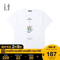 T-shirt Youth fashion routine S M L XL XS FIVE cm Short sleeve other standard Other leisure Cotton 100% Autumn 2020 Same model in shopping mall (sold online and offline)