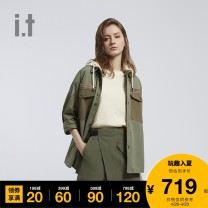 shirt BKX / black KHL / Khaki XS S M Spring 2021 cotton 96% and above Long sleeves other Regular other other 25-29 years old izzue IZXSTJ8107S1G Cotton 100% Same model in shopping mall (sold online and offline)