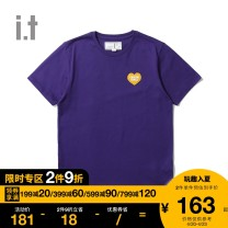 T-shirt XS S M Autumn 2020 Short sleeve Regular cotton 96% and above :CHOCOOLATE Cotton 100% Same model in shopping mall (sold online and offline)