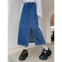 skirt Winter 2020 M, L Black, blue Mid length dress street High waist A-line skirt other 18-24 years old 31% (inclusive) - 50% (inclusive) other JASUMMER other Pocket, button, zipper, stitching Europe and America