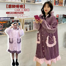Pajamas / housewear set female Other / other XL,XXL,XXXL,4XL Purple, pink other Sweet thickening Solid color XCW538