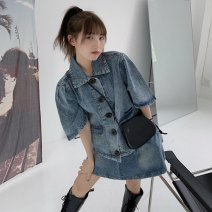 Fashion suit Spring 2021 Average size Denim top, skirt 18-25 years old