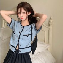 Fashion suit Summer 2021 Average size Single breasted top, high waist and small black skirt 18-25 years old 9102# 31% (inclusive) - 50% (inclusive) polyester fiber