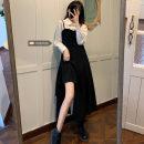 Dress Winter 2020 Size M (90-100kg), l (100-120kg), XL (120-140kg), 2XL (140kg-160kg), 3XL (160kg-180kg), 4XL (180kg-200kg) Mid length dress Long sleeves commute 18-24 years old Korean version