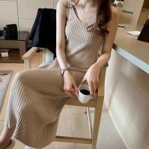 Dress Summer of 2019 Brown, apricot, black XL,2XL,3XL,4XL