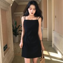 Women's large Summer 2020 black L [recommended 100-115 kg], XL [recommended 115-130 kg], 2XL [recommended 130-150 kg], 3XL [recommended 150-170 kg], 4XL [recommended 175-200 kg] commute Socket Korean version Medium length 18-24 years old