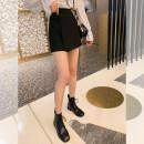skirt Spring 2021 S,M,L black Short skirt commute High waist skirt Solid color Type A 2103C26 51% (inclusive) - 70% (inclusive) polyester fiber zipper Korean version