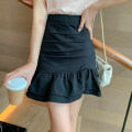 skirt Spring 2021 S,M,L,XL Black, blue, yellow, white Short skirt commute High waist Cake skirt Solid color Type A I0405043 51% (inclusive) - 70% (inclusive) polyester fiber