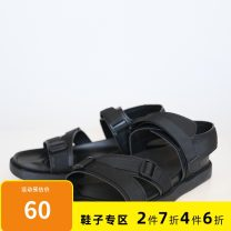 Sandals black 38,39,40,41,42,43 GXG Buckles Artificial leather Beach shoes summer daily Barefoot Youth (18-40 years old)