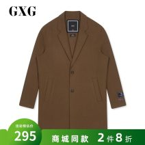 woolen coat Caramel 165/S,170/M,175/L,180/XL,185/XXL GXG Youth fashion Wool 80% polyamide fiber (nylon) 20% have more cash than can be accounted for Other leisure standard youth tailored collar Single breasted tide winter