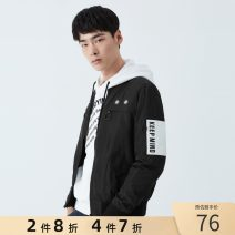 Jacket GXG Youth fashion black 170/M,175/L,180/XL,185/XXL,165/S,190/XXXL routine standard Other leisure spring Long sleeves Baseball collar youth short polyester fiber