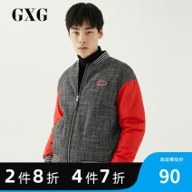 Jacket GXG Youth fashion Check pattern 165/S,170/M,175/L,180/XL,185/XXL,190/XXXL thick standard Other leisure winter Long sleeves Wear out Baseball collar tide youth routine Zipper placket Rib hem Closing sleeve houndstooth  polyester fiber Assembly polyester fiber 50% (inclusive) - 69% (inclusive)