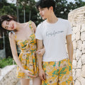 Split swimsuit customized Women's, men's pants M,L,XL,XXL Skirt split swimsuit With chest pad without steel support Nylon, spandex, others female Crew neck