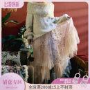 skirt Autumn of 2018 M, L bulingbuling Mid length dress commute Natural waist Irregular Dot Type A knitting Maixu other Ruffles, three dimensional decoration Retro