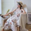 Dress Summer of 2019 Decor Average size Mid length dress Sleeveless Sweet Loose waist camisole Type A Maixu