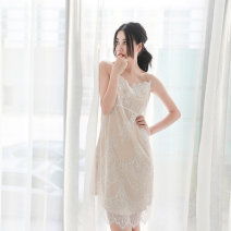 Vest sling Summer of 2019 Apricot, white lace 2, white lace 3 M, L singleton  Medium length Straight cylinder Versatile camisole other Maixu Lace