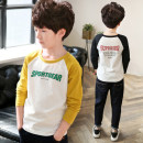 T-shirt Other / other 120cm,130cm,140cm,150cm,160cm,170cm male spring and autumn Long sleeves Crew neck Korean version There are models in the real shooting nothing cotton Solid color Cotton 95% polyurethane elastic fiber (spandex) 5% Red sun Class B Sweat absorption Chinese Mainland Huzhou City