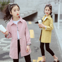 Plain coat Other / other female The recommended height is 110cm for Size 120, 120cm for Size 130, 130cm for size 140, 140cm for size 150, 150cm for size 160 and 160cm for size 170 Amber-1812 coat pink spring and autumn, amber-1812 coat yellow spring and autumn, amber-1812 coat pink + yellow routine