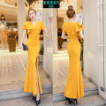 Dress Summer 2021 Black, yellow, pink S,M,L longuette singleton  Short sleeve street V-neck High waist Solid color zipper One pace skirt routine Others 30-34 years old Type H Button, zipper, solid color More than 95% other polyester fiber Europe and America