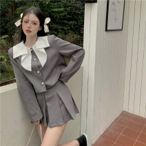 Fashion suit Summer 2021 S. M, average size Half skirt piece, top piece 18-25 years old 30% and below