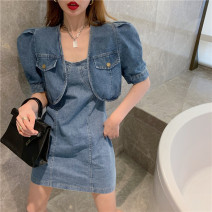 Fashion suit Summer 2021 S, M Jacket piece, suspender skirt piece 18-25 years old 30% and below