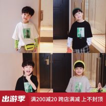 T-shirt White, gray, black ROLLINGBABY male spring and autumn Short sleeve Crew neck Korean version There are models in the real shooting nothing cotton other Cotton 100% Class B Sweat absorption 2, 3, 4, 5, 6, 7, 8, 9, 10, 11, 12, 13, 14 years old Chinese Mainland Zhejiang Province
