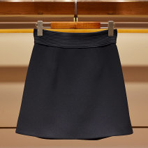 skirt Spring 2021 S,M,L,XL Black, white Short skirt commute High waist A-line skirt Solid color Type A 31% (inclusive) - 50% (inclusive) other Laveijoya / navidroya other Splicing lady
