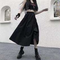 skirt Summer 2021 Average size White, black Mid length dress commute High waist A-line skirt Solid color Type A 81% (inclusive) - 90% (inclusive) My brother is style Korean version