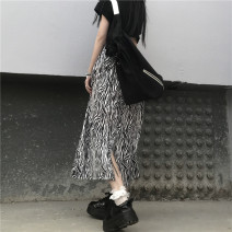 skirt Spring 2021 S,M,L Picture color Mid length dress Versatile Natural waist A-line skirt Zebra pattern Type A 31% (inclusive) - 50% (inclusive) other My brother is style cotton