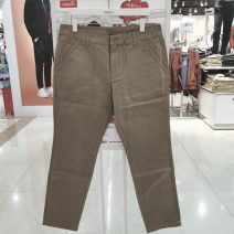 Casual pants Fashion City S,M,L,XL routine trousers Other leisure Self cultivation autumn youth Basic public Medium low back Straight cylinder Cotton 100% pocket Solid color cotton cotton Domestic famous brands More than 95%