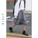 skirt Spring 2020 Average size blue Middle-skirt commute High waist Irregular lattice Type A 31% (inclusive) - 50% (inclusive) brocade cotton literature