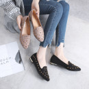 Low top shoes 35 36 37 38 39 Other / other Khaki black Sharp point Flat bottom Suede Shallow mouth Low heel (1-3cm) PU Summer of 2018 Trochanter Korean version Adhesive shoes Youth (18-40 years old) Solid color rubber Doug shoes Shallow rivet PU daily