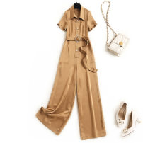 Jumpsuit / pants 96% and above trousers other High waist other Khaki, black M,L,XL,XXL Summer 2021