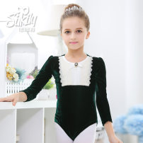Children's performance clothes female 100, 110, 120, 130, 140, 150, 160, 170 Silkily Class B Ballet Polyethylene terephthalate (PET) 92% polyurethane elastic fiber (spandex) 8% other 2, 3, 4, 5, 6, 7, 8, 9, 10, 11, 12, 13, 14 years old Europe and America