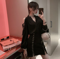 Fashion suit Summer 2021 S,M,L Black shirt, black skirt 51% (inclusive) - 70% (inclusive)