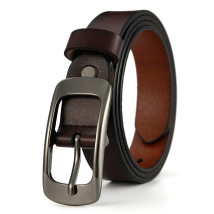 Belt / belt / chain Double skin leather Red black light brown brown brown Camel female belt leisure time Single loop youth Pin buckle Patent leather