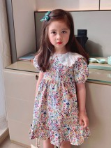 Dress Broken flower of baby collar female Other / other 80cm,90cm,100cm,110cm,120cm,130cm Other 100% summer Countryside Short sleeve flower other A-line skirt two thousand and twenty-one - four - twelve - four other Chinese Mainland Guangdong Province Shenzhen City