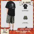 T-shirt Youth fashion Grey, black, blue, orange, kz764 green pants, kz764 black pants routine M,L,XL,2XL Others Short sleeve Crew neck easy Other leisure summer T04089&KZ764 youth routine Japanese Retro 2020
