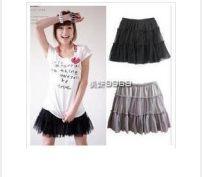 skirt Summer 2017 Average size Black (miniskirt), white (miniskirt) Miniskirt Versatile Natural waist Splicing style Solid color 18-24 years old Other / other
