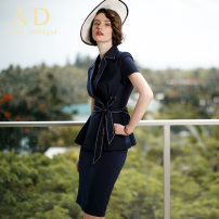 Professional dress suit S,M,L,XL Navy, suit skirt, Navy skirt, suit + trousers, trousers Summer of 2019 Short sleeve CS562 Jacket, other styles Suit skirt 25-35 years old AD 71% (inclusive) - 80% (inclusive) polyester fiber