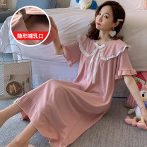 Nursing clothes White, pink, green, collection and purchase ⭐ Priority shipping, goose yellow, fog blue, white (quality version), pink (quality version), green (quality version), goose yellow (quality version), fog blue (quality version) M,L,XL,2XL,3XL Other / other Socket summer Short sleeve Dress