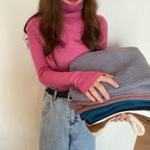 sweater Winter 2020 Average size White, black, light gray, black gray, milk apricot, red bean, brown sugar, rose pink, retro blue Long sleeves Socket singleton  other 95% and above High collar thickening commute routine Solid color Self cultivation Keep warm and warm 25-29 years old Other / other