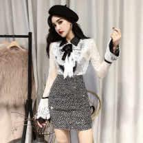 Pajamas / housewear set male Ezrin Average size White top, black top, short skirt wool