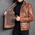 leather clothing Others other routine Imitation leather clothes Lapel Slim fit zipper winter leisure time youth Business Casual Straight hem Zipper bag other other