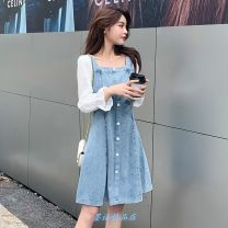 Nursing clothes Picture color [breast feeding style], picture color [pregnant woman style], picture color [women's clothing style] M,L,XL,2XL,3XL,4XL Other / other Socket Spring autumn winter Long sleeves Medium length Versatile Dress Solid color Side opening polyester O61